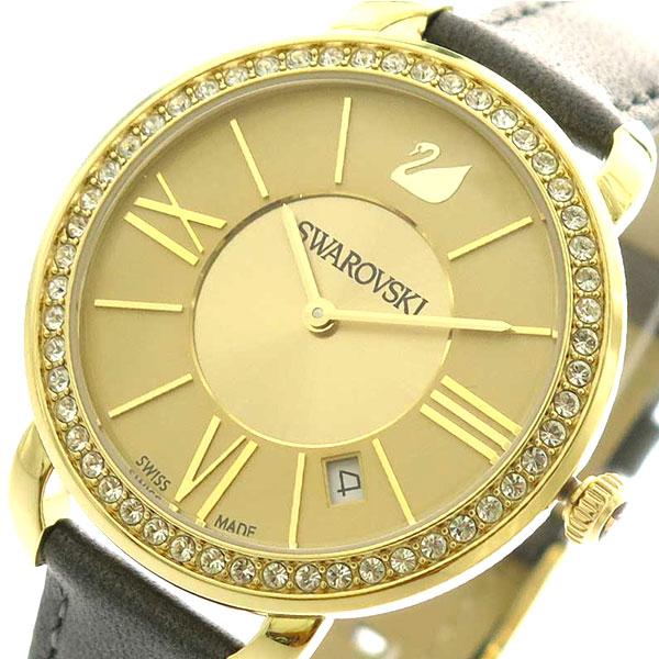 スワロフスキー SWAROVSKI グレー 5221141 腕時計 レディース 5221141 SWAROVSKI ゴールド グレー, ST-SERVICE:7b9a77b4 --- knbufm.com
