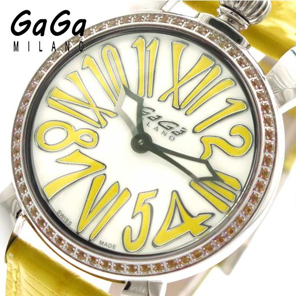 ガガミラノ GAGA MILANO 腕時計 レディース 602506 ホワイト イエロー