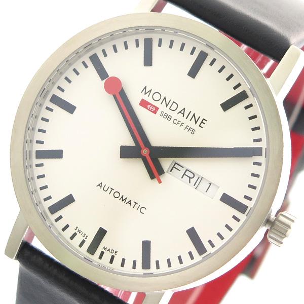 モンディーン MONDAINE 腕時計 メンズ A132.30359.16SBB 自動巻き ホワイト ブラック