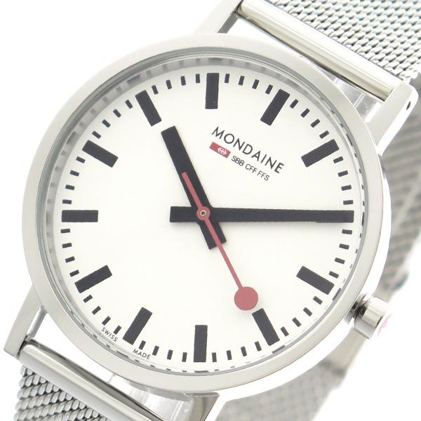 モンディーン MONDAINE 腕時計 メンズ レディース A660.30314.11SBV クォーツ ホワイト シルバー
