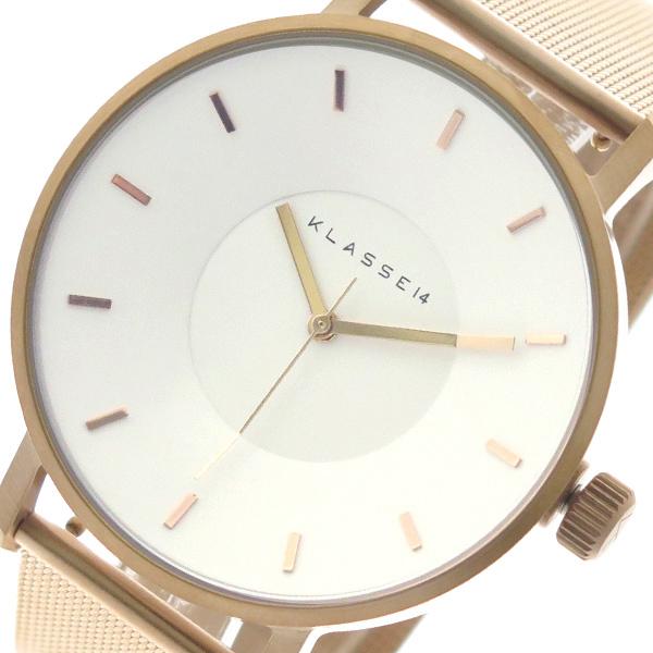 クラス14 KLASSE14 腕時計 メンズ レディース VO18RG010M ヴォラーレ Volare クォーツ ホワイト ピンクゴールド ホワイト