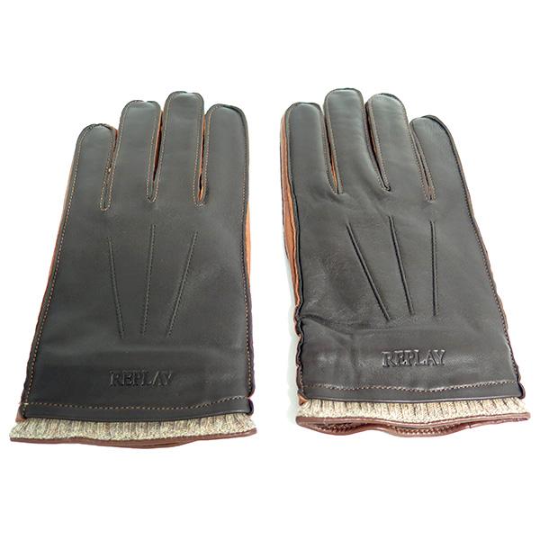 リプレイ REPLAY 手袋 メンズ AM6045-000-TAN ブラウン