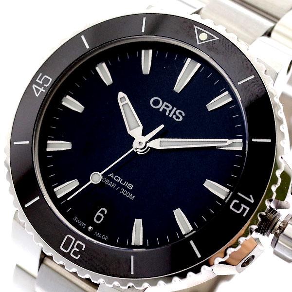 オリス ORIS 腕時計 AQUIS レディース レディース 73377314154M ORIS AQUIS 自動巻き ブラック シルバー, 徳島市:0f048bbf --- sunward.msk.ru