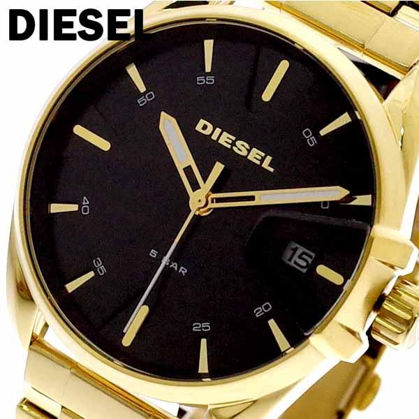 ディーゼル メンズ DIESEL ディーゼル 腕時計 クォーツ メンズ DZ1865 エムエスナイン MS9 クォーツ ブラック ゴールド, かごや:64b2a8c9 --- sunward.msk.ru