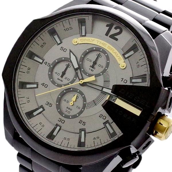 ディーゼル DIESEL 腕時計 メンズ DZ4479 メガチーフ MEGA CHIEF クォーツ グレー ブラック