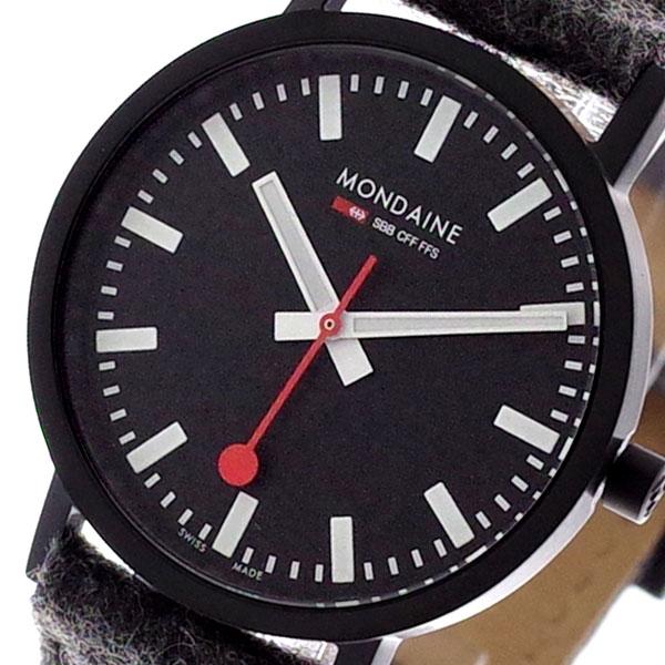 モンディーン MONDAINE 腕時計 メンズ レディース A660-30314-64SBH ブラック グレー