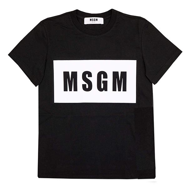 エムエスジーエム MSGM Tシャツ メンズ 2640MM67-BK-S ブラック