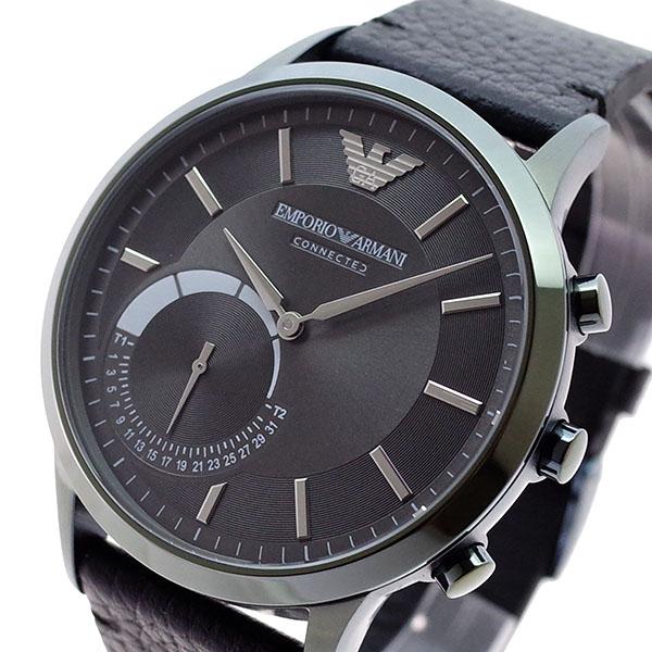 エンポリオアルマーニ EMPORIO ARMANI 腕時計 メンズ ART3021 クォーツ ガンメタル ブラック