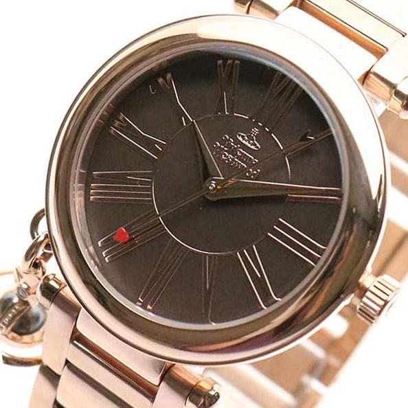 ヴィヴィアンウエストウッド VIVIENNE WESTWOOD? 腕時計 レディース VV006PBRRS クォーツ ブラウン ピンクゴールド