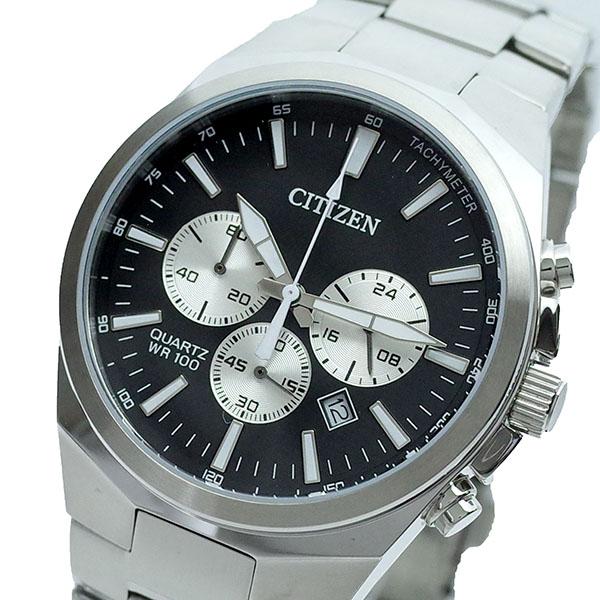 シチズン CITIZEN 腕時計 メンズ AN8170-59E クォーツ ブラック シルバー