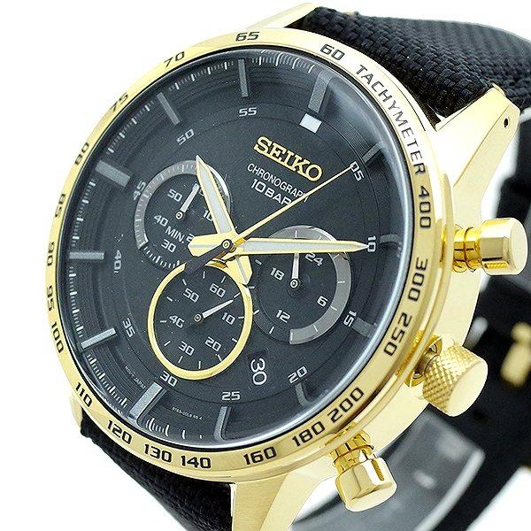 セイコー SEIKO 腕時計 メンズ SSB364P1 Quartz Watch 50th Anniversary ブラック