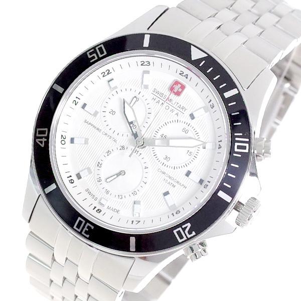 スイスミリタリー SWISS MILITARY 腕時計 メンズ ML-321 クォーツ オフホワイト シルバー