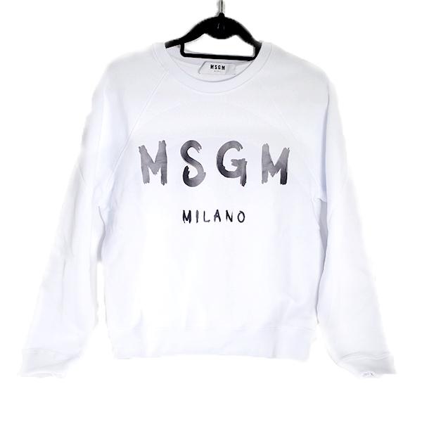 エムエスジーエム MSGM スウェット 2741MDM89-01-XS ホワイト