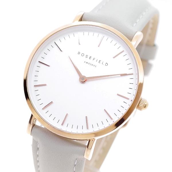 ローズフィールド ROSEFIELD 腕時計 レディース TWGR-T57 THE TRIBECA クォーツ ホワイト ライトグレー