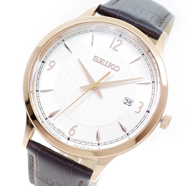 セイコー SEIKO 腕時計 メンズ SGEH88P1 クォーツ ホワイト ブラウン