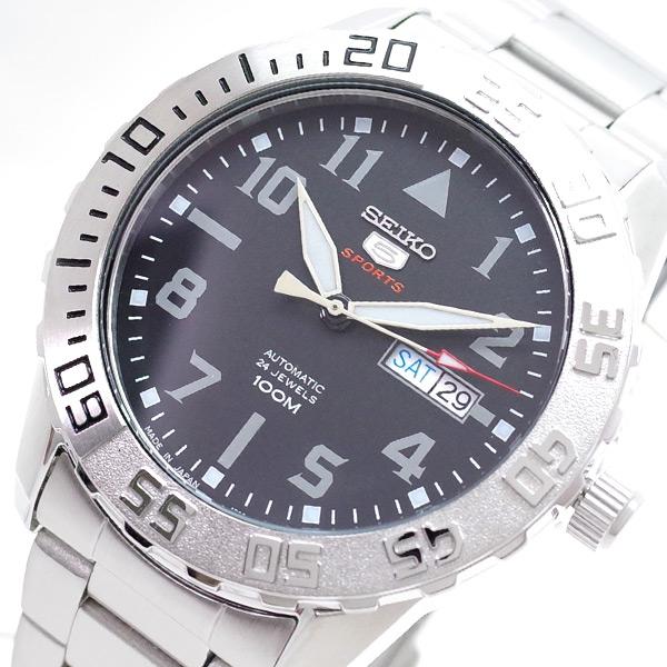 セイコー SEIKO 腕時計 メンズ SRP1755J1 SEIKO5 自動巻き ブラック シルバー