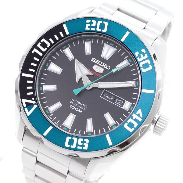 セイコー SEIKO 腕時計 メンズ SRP1C53J1 SEIKO5 自動巻き ブラック シルバー