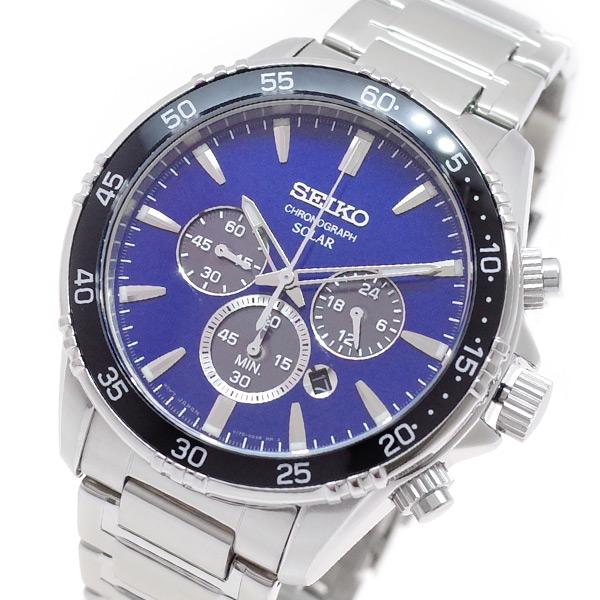 セイコー SEIKO 腕時計 メンズ SSC445P1 クォーツ ネイビー シルバー