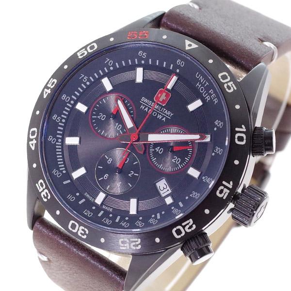 スイスミリタリー SWISS MILITARY 腕時計 メンズ ML-441 クォーツ ブラック ダークブラウン 国内正規