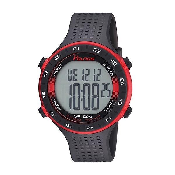 ヤンズ YOUNGS 腕時計 メンズ YP11562-01 クォーツ 液晶 ブラック 国内正規