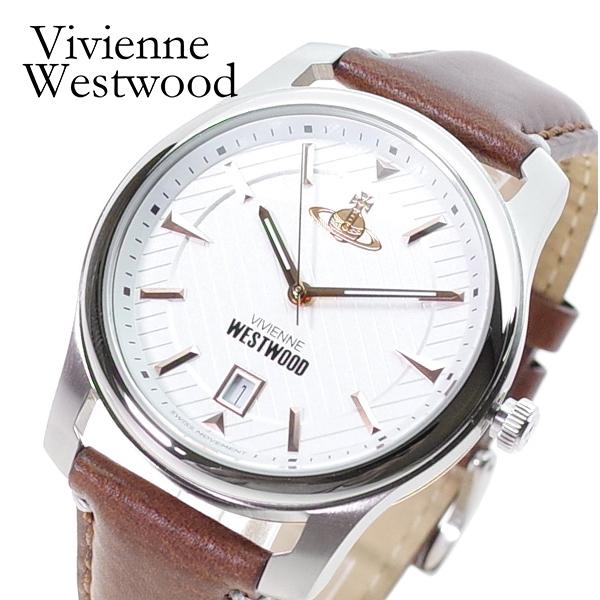 ヴィヴィアン ウエストウッド VIVIENNE WESTWOOD 腕時計 メンズ VV185WHBR クォーツ ホワイト ブラウン