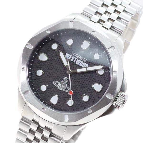 ヴィヴィアン ウエストウッド VIVIENNE WESTWOOD 腕時計 メンズ VV219SL クォーツ ブラック シルバー