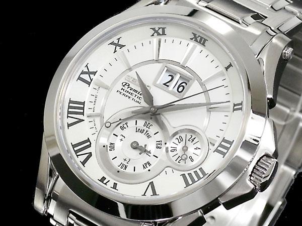 세이코 SEIKO 프르미에 Premier 키네틱멘즈파페츄알 손목시계 SNP019P1