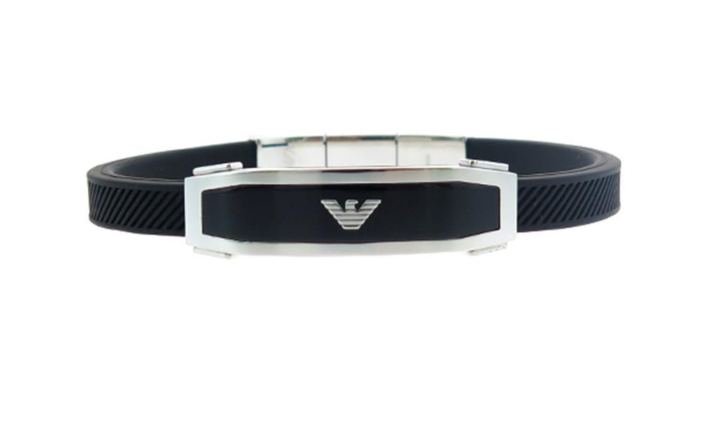 エンポリオアルマーニ EMPORIO ARMANI ブレスレット メンズ EGS1543040 シルバー ブラック ブラック