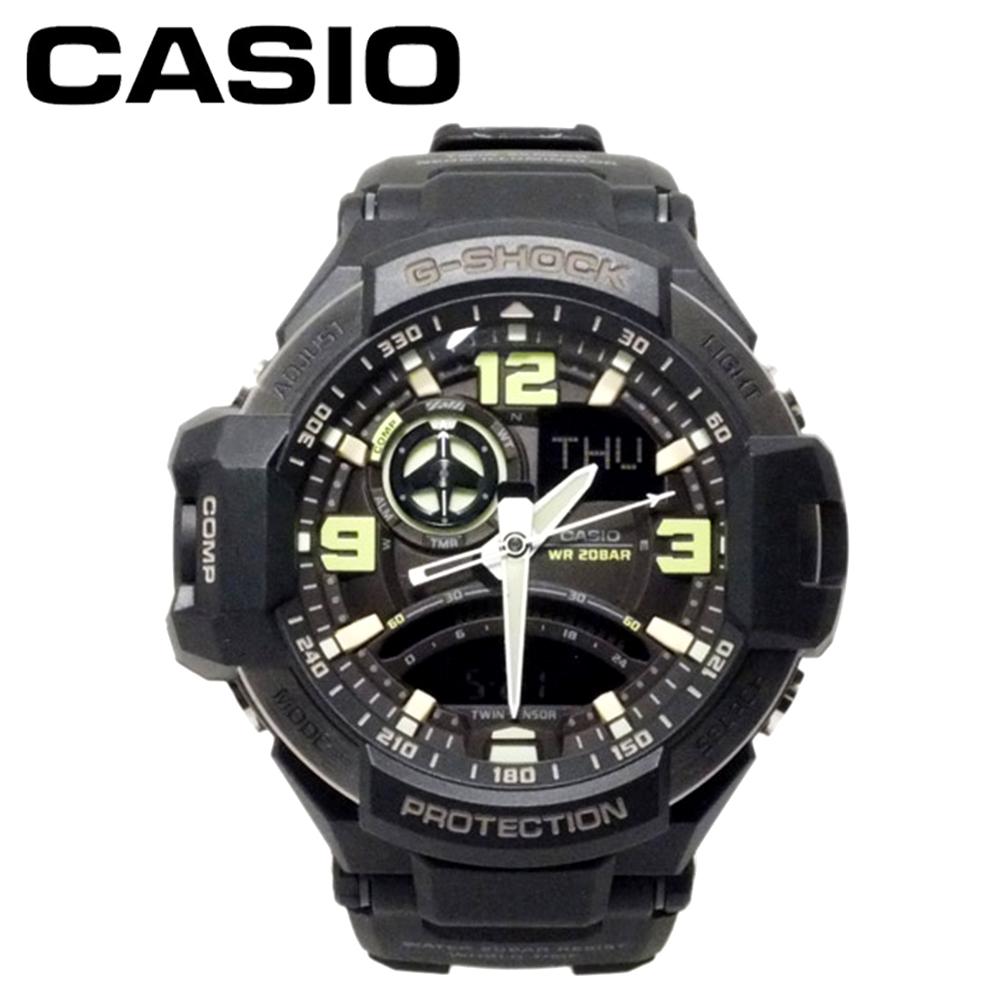 カシオ 腕時計 メンズ Gショック G-SHOCK CASIO スカイコックピット SKY COCKPIT GA-1000-1B ブラック グリーン 男性 夫 旦那 お父さん 彼氏 息子 誕生日プレゼント