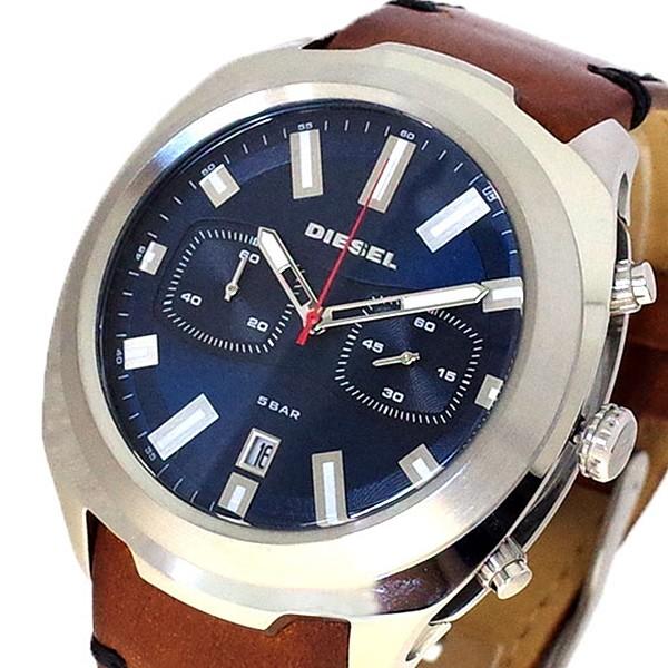 ディーゼル DIESEL 腕時計 メンズ DZ4508 タンブラー TUMBLER クォーツ ネイビー ブラウン