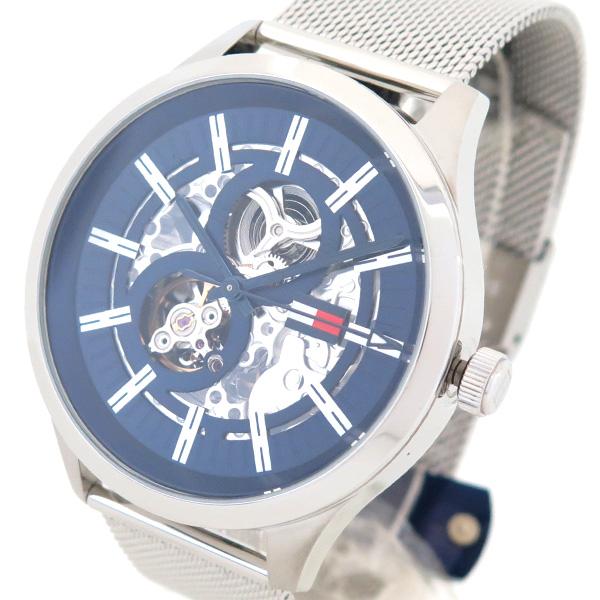 スペシャルオファ トミーヒルフィガー TOMMY HILFIGER 腕時計 1791643 メンズ スペンサー SPENCER 自動巻き ネイビー シルバー, 壮健の里柊亭 ed859480