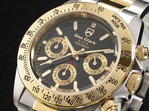 덩크 클라크 DONCLARK 크로 노 그래프 시계 DM-2051-05GS