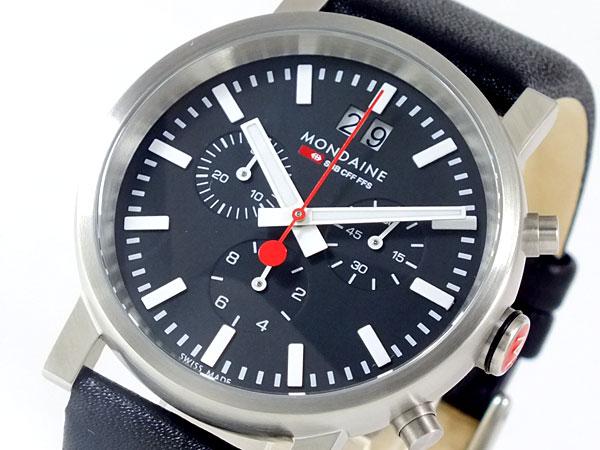 モンディーン MONDAINE クロノグラフ 腕時計 A6903030414SBB