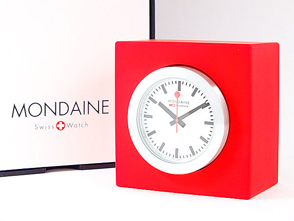 モンディーン MONDAINE 置時計 A6603031884SBC レッド