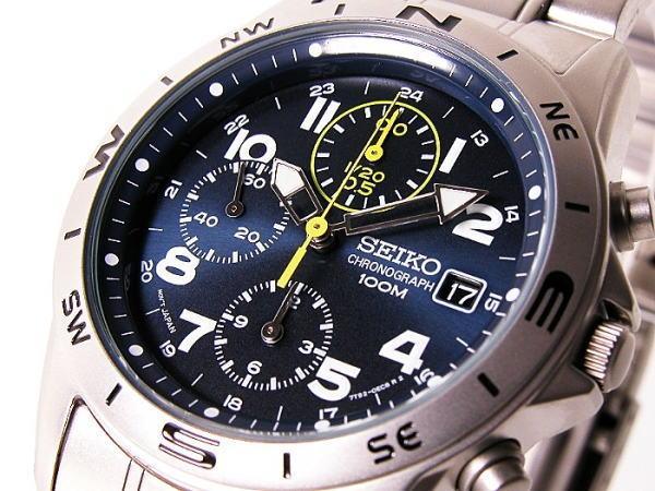 セイコー SEIKO クロノグラフ 腕時計 SND379 ウォッチ 時計 うでどけい