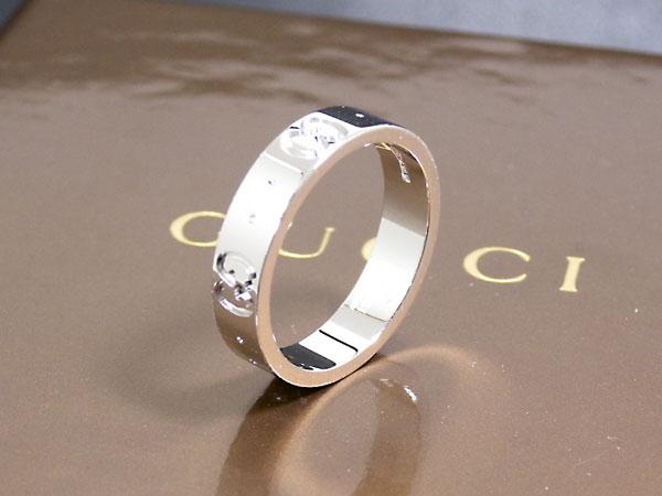 グッチ GUCCI リング/指輪 K18 ホワイトゴールド 073230 19号