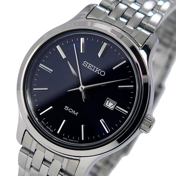 セイコー SEIKO クオーツ レディース 腕時計 SUR797P1 ネイビー