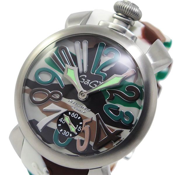 ガガミラノ GaGaMILANO マヌアーレ 手巻き メンズ 腕時計 5010-18S-SS グリーン