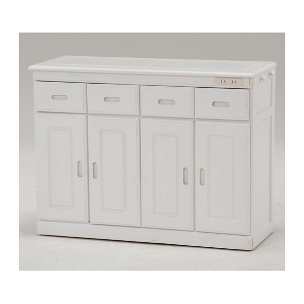 キッチンカウンター MUD-6124WH 4934257218979 ホワイト 代引き不可