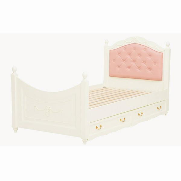 収納ベッド シングル RB-1855WH 4934257227551 ホワイト 代引き不可