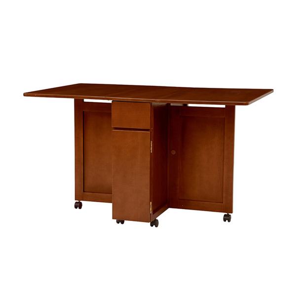 バタフライテーブル 机 VDT-7955DBR 4934257228657 ダークブラウン 代引き不可