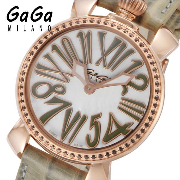 ガガ ミラノ マニュアーレ 35mm クオーツ レディース 腕時計 602603 ホワイトパール
