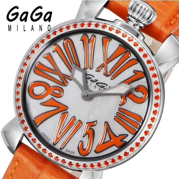 ガガ ミラノ マニュアーレ 35mm クオーツ レディース 腕時計 602505 ホワイトパール