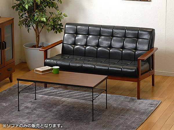 SOFA ソファー シャーク2P-BK 【代引不可】