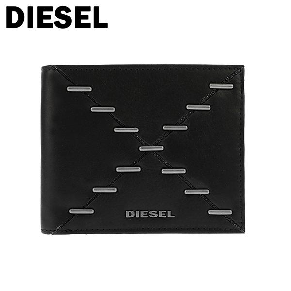 ディーゼル DIESEL ユニセックス 二つ折り 短財布 X04121-PS778-H1669 ブラック ブラック