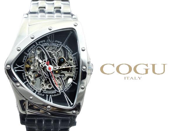 コグ COGU 流通限定モデル フルスケルトン 自動巻き 腕時計 BNT-BK ウォッチ 時計 うでどけい