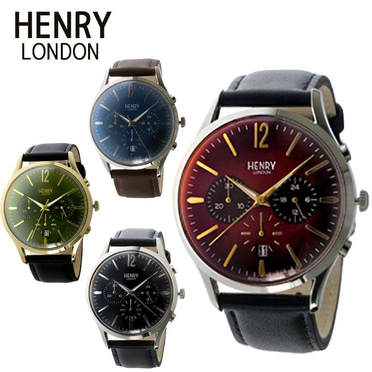 【純正ケース付】HENRY LONDON LONDON レザーベルト 腕時計 ヘンリーロンドン 41mm HL41cs0099 クロノグラフ レザーベルト ユニセックス HL41CS0107 HL41CS0023 HL41cs0099 HL41CS0106, カジュアルクロージング With:74dd2069 --- kutter.pl
