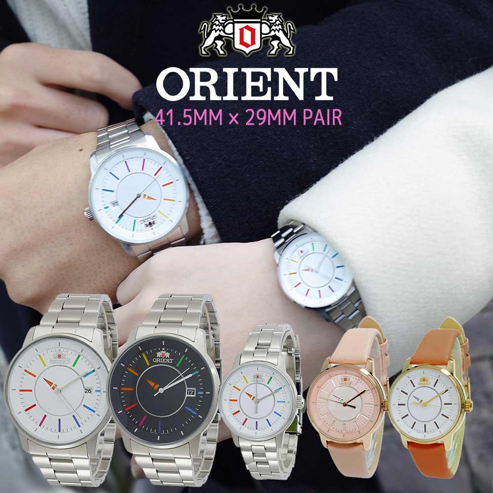 【国内正規品】 ペアウォッチ オリエント ORIENT 腕時計 自動巻き ホワイト ピンク キャメル ブラック シースルーバック WV0821ER WV0761ER WV0011NB WV0031NB WV0051NB