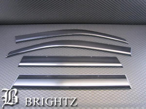 【 BRIGHTZ エクストレイル DNT31 NT31 T31 TNT31 ブラックスモークドアサイドバイザー 金具付き 】 【 INJ-V-028 】