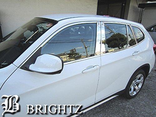 【 BRIGHTZ BMW E84 X1 超鏡面ステンレスメッキピラー ウィンドウモール セット 無用 22PC WIN-SET-010 】18i 20i 25i 28i VL18 VL20 VM20 VL25 L18 L20 M20 L25 エックスワン